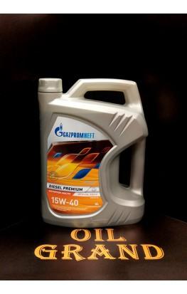 ГазПромНефть Diesel Premium 15W40, минеральное, 5л