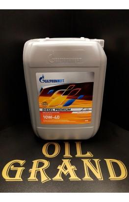 ГазПромНефть Diesel Premium 10W40, полусинтетическое, 20л