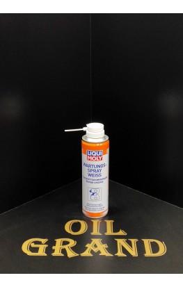 LiquiMoly грязеотталкивающая белая смазка Wartungs-Spray weiss,  0.25л
