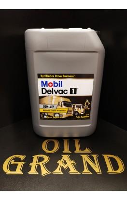 Mobil Delvac 1 5W40, синтетическое, 20л