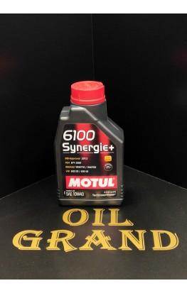 MOTUL 6100 Synergie+ 10W40, полусинтетическое, 1л