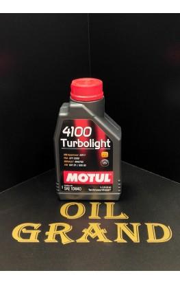 MOTUL 4100 Turbolight 10W40, полусинтетическое, 1л