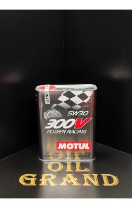 MOTUL 300V POWER RACING 5W30, синтетическое, 2л