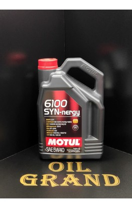 MOTUL 6100 SYN-nergy 5W40, синтетическое, 4л