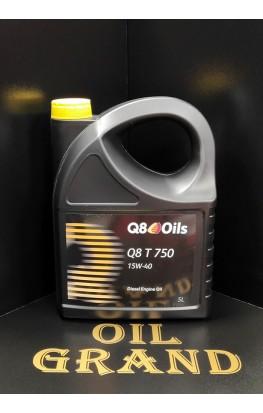 Q8 T 750 15W40, минеральное, 5л