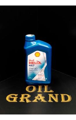 SHELL HELIX HX7 5W40, синтетическое, 1л