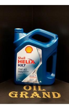 SHELL HELIX HX7 5W40, синтетическое, 4л