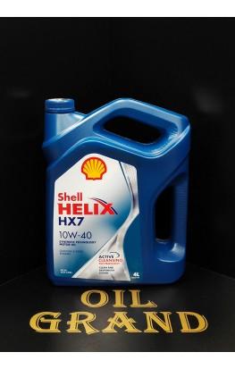 SHELL HELIX HX7 10W40, полусинтетическое, 4л