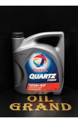 Total Quartz 7000 10W40, полусинтетическое, 4л