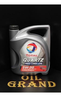 Total Qartz INEO LONG LIFE 5W30, синтетическое, 5л