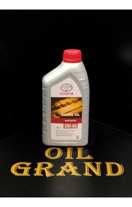 TOYOTA Motor Oil SL/CF 5W40, синтетическое, 1л