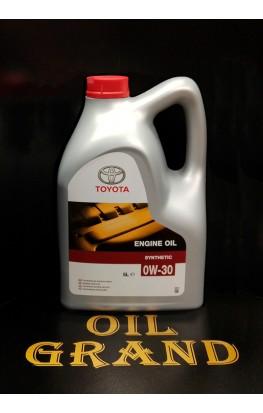 TOYOTA Motor Oil A5/B5 0W30, синтетическое, 5л