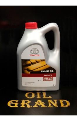 TOYOTA Motor Oil SL/CF 5W40, синтетическое, 5л