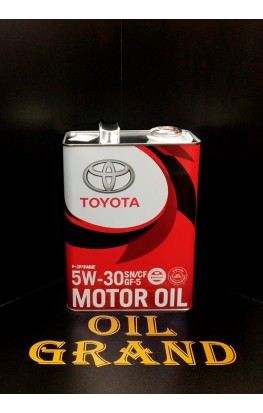 TOYOTA Motor Oil SN/GF-5 5W30, синтетическое, 4л